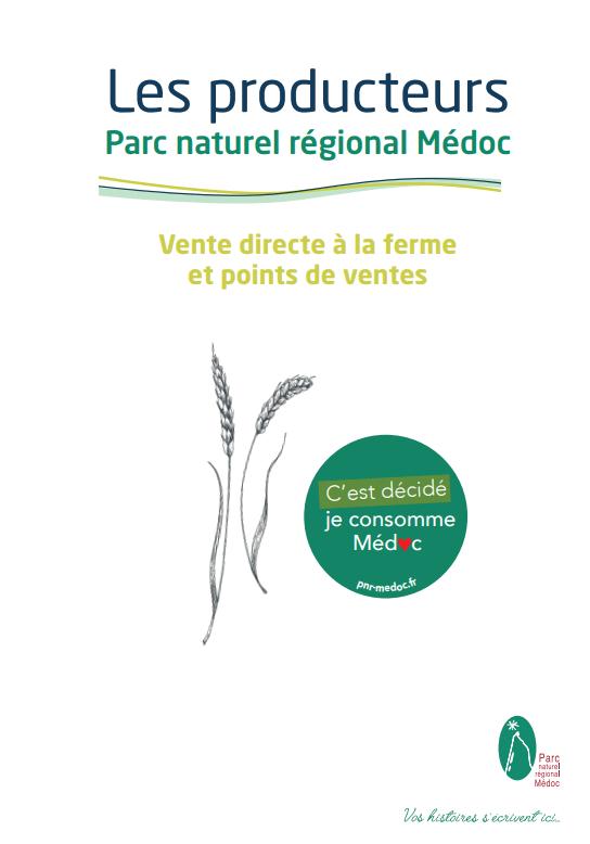 2020 12 PNR Image Guide producteurs Carnet d'adresses des producteurs locaux du Médoc SMICOTOM 33